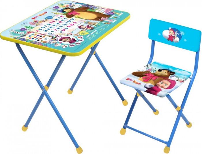 Детские столы и стулья Ника Набор мебели Маша и Медведь (стол+стул клеенка)