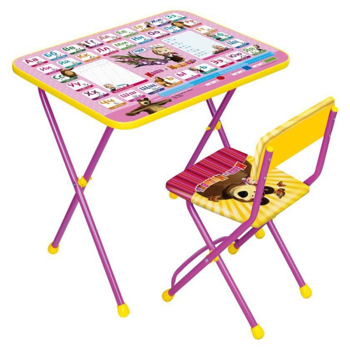 Детские столы и стулья Ника Набор мебели Маша Медведь (стол+стул клеенка)