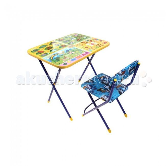 Столы и стулья Ника Набор мебели Маша и Медведь (стол+стул клеенка) столы и стулья ника набор мебели стол парта мягкий стул