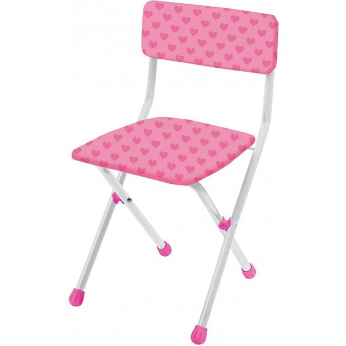 Столы и стулья Ника Стул складной с мягким сиденьем стул детский складной мягкий из моющейся ткани сердечки розовые