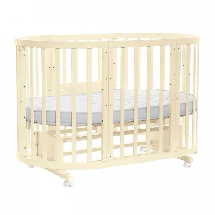 Детская мебель , Кроватки-трансформеры Noony Cozy круглая с маятником арт: 326524 -  Кроватки-трансформеры