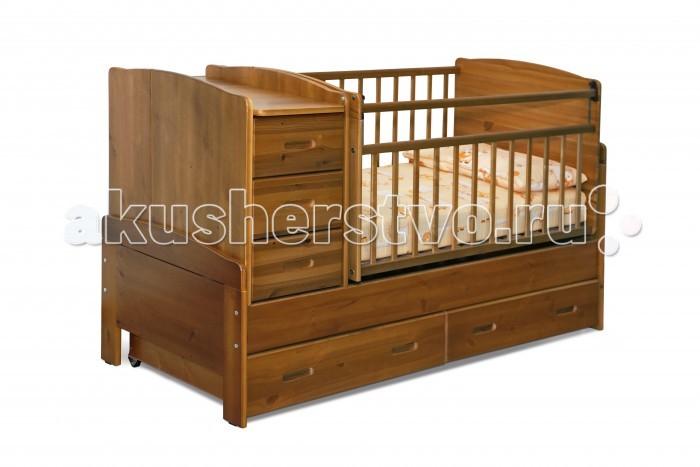 Кроватки-трансформеры Noony Wood Chalet поперечный маятник выдвижные кровати для двоих детей