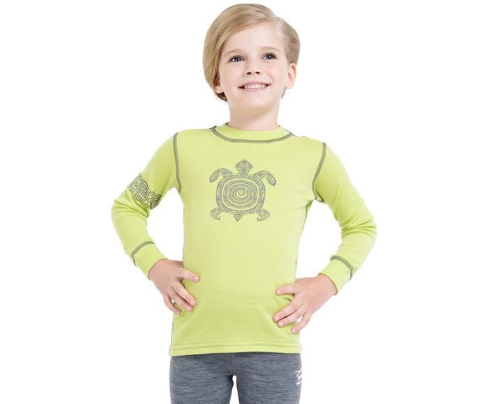 Детская одежда , Футболки и топы Norveg Soft Kids Футболка детская с длинным рукавом и принтом арт: 368853 -  Футболки и топы