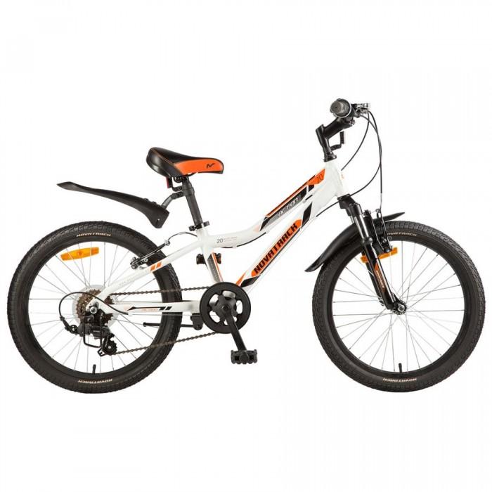Велосипед двухколесный Novatrack Action 20 6 скоростейAction 20 6 скоростейВелосипед двухколесный Novatrack Action 20 6 скоростей это лучший велосипед, для того, чтобы приобщить к катанию мальчика 7-10 лет.   Рама велосипеда выполнена из алюминия, поэтому достаточно прочная и легкая, благодаря чему, ребенок сможет самостоятельно выкатывать свое транспортное средство во двор. Велосипед оснащен надежными ободными тормозами, которые одинаково хорошо работают в любую погоду.    Руль и сидение велосипеда регулируются, чтобы как можно дольше соответствовать росту ребенка. Быстро затормозить поможет передний или задний тормоз, а может и оба сразу, на усмотрение ребенка. Эта модель прекрасно подойдет для обучения азам самостоятельного катания. 6-ти скоростной Novatrack Action 20 очень надежный, поэтому готов к любым испытаниям, которые ему необходимо будет пройти вместе с маленьким ездоком.  Особенности: Количество скоростей: 6 Диаметр колес: 20 Материал рамы: Сталь Манетки: Shimano TS-50 Вилка: амортизационная Задний переключатель: Shimano TY-21 Обода: алюминиевые<br>