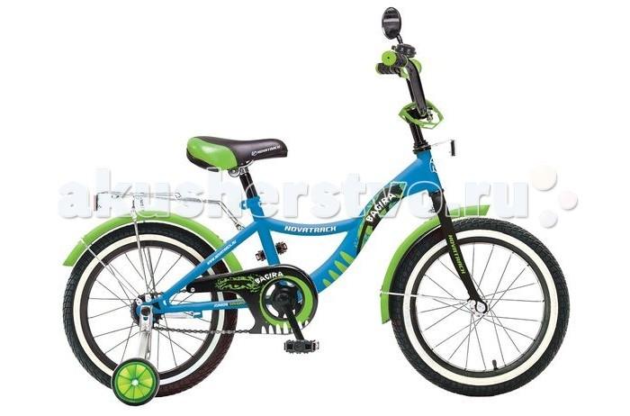 Велосипед двухколесный Novatrack Bagira 20Bagira 20Велосипед двухколесный Novatrack Zebra 20 это современный, удобный и безопасный велосипед для девочек от 7 до 10 лет.   Велосипед укомплектовали мягким регулируемым седлом, которое беспечит удобную посадку во время катания. Руль велосипеда также регулируется по высоте и наклону, благодаря чему велосипед прослужит ребенку не один год. Данная модель маневренна и легка в управлении, поэтому ребенку будет просто и интересно учиться кататься на велосипеде. По бокам имеются съемные дополнительные колеса, которые нужны до тех пор, пока ребенок не почувствует себя уверенно. Быстро затормозить поможет ножной тормоз. Для перевозки «девчачих» аксессуаров и всяких нужностей велосипед оснастили багажником.   На руле установлен звонкий гудок и зеркальце, без которого не может обойтись ни одна модница. Над колесами располагаются хромированные крылья, которые защитят от брызг и грязи.  Особенности: Количество скоростей: 1 Диаметр колес: 20 Материал рамы: Сталь Вилка: жесткая Пол: для девочек Обода: алюминиевые Вес: 11.6 кг Возраст: 7-10 Багажник: Установлен Защита: А-тип<br>