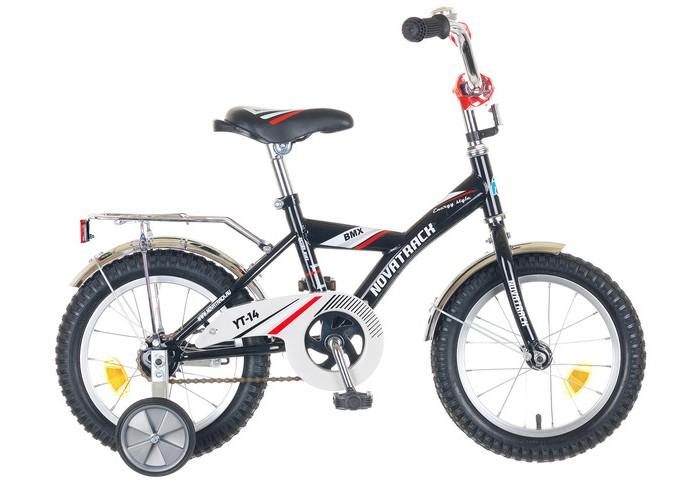 Двухколесные велосипеды Novatrack BMX 14 bmx недорого с 9 до 13 лет с передним тормозами задним