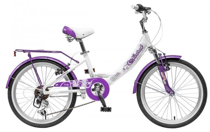 Детский транспорт , Двухколесные велосипеды Novatrack Girlish Line 20 арт: 445169 -  Двухколесные велосипеды