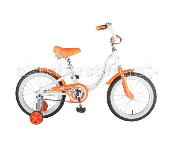 Велосипед двухколесный Novatrack Angel 16Angel 16Велосипед двухколесный Novatrack Angel 16 прекрасно подойдет для малыша, который любит активно проводить время. Крепкая стальная рама обеспечивает высокий уровень безопасности для ребенка. Для комфортных поездок по сложной трассе либо по пересеченной местности велосипед оборудован двумя дополнительными съемными колесами, благодаря которым маленький наездник будет чувствовать себя увереннее. Ножной тормоз позволит быстро затормозить в случае необходимости. А крылья в цвет велосипеда защитят ребенка от брызг во время езды.<br>