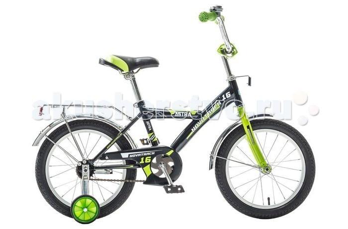 Велосипед двухколесный Novatrack Astra 16Astra 16Велосипед двухколесный Novatrack Astra 16 - это стильный, качественный и надежный велосипед для ребят 5-7 лет. Велосипед собран на базе рамы с универсальной геометрией, которая позволяет легко взобраться или слезть с велосипеда. Для начинающих гонщиков в комплекте предусмотрены страховочные колеса.  Особенности: прочная стальная рама алюминиевые обода  защита цепи задний ножной тормоз Диаметр колес: 16<br>