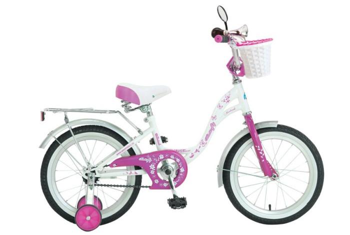 Велосипед двухколесный Novatrack Butterfly 16Butterfly 16Велосипед двухколесный Novatrack Butterfly 16 прекрасно подойдет для малыша, который любит активно проводить время. Крепкая стальная рама обеспечивает высокий уровень безопасности для ребенка. Для комфортных поездок по сложной трассе либо по пересеченной местности велосипед оборудован двумя дополнительными съемными колесами, благодаря которым маленький наездник будет чувствовать себя увереннее. Ножной тормоз позволит быстро затормозить в случае необходимости. А крылья в цвет велосипеда защитят ребенка от брызг во время езды.<br>