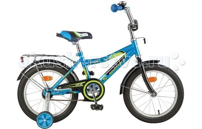 Велосипед двухколесный Novatrack Cosmic 16Cosmic 16Велосипед двухколесный Novatrack Cosmic 16 - это стильный, качественный, маневренный и надежный велосипед. Для начинающих гонщиков в комплекте предусмотрены страховочные колеса, которые совершенно не портят внешний вид транспорта.  Особенности: прочная стальная рама сиденье и руль регулируемые  защита цепи задний ножной тормоз накладка на руль отражатели звонок багажник Диаметр колес: 16<br>