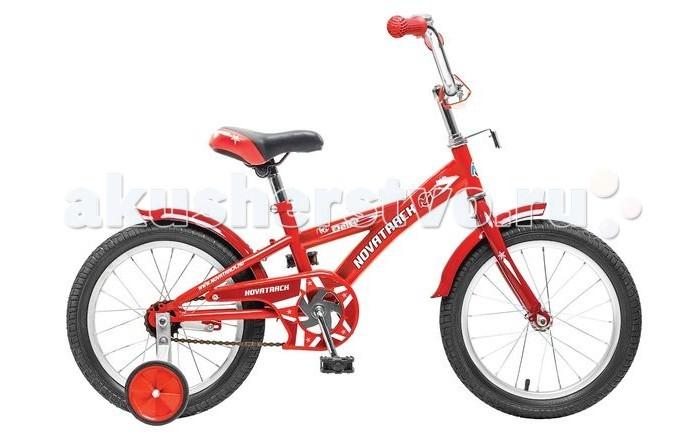 Велосипед двухколесный Novatrack Delfi 18Delfi 18Велосипед двухколесный Novatrack Delfi 18 - имеет привлекательный дизайн, надежную сборку и отличную управляемость. Низкая рама разработана так, что ребенку очень легко взбираться и слезать с велосипеда, да и спрыгивать, в случае непредвиденных обстоятельств во время катания. Велосипед подойдет и начинающим гонщикам, так как в комплекте есть страховочные колеса.   Особенности: прочная скошенная рама седло эргономичной формы с возможностью регулирования высоты классический руль с рукоятками из прорезиненного материала уровень руля регулируется крылья короткие, металлические цепь закрыта щитком в комплекте - страховочные колесики для начинающих велосипедистов Диаметр колес: 18<br>