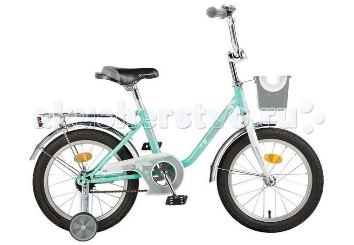 Велосипед двухколесный Novatrack Maple 16Maple 16Велосипед двухколесный Novatrack Maple 16 - это надежный и красивый велосипед для девочек, на котором очень легко будет освоить азы катания.  Особенности: рама одинарная, низкая сиденье и руль регулируются по высоте рукоятки эргономичной формы с прорезиненными накладками крылья металлические, удлиненные, выкрашены в цвет, совпадающий с оттенком рамы цепь закрыта металлическим щитком задний ножной тормоз хромированный багажник с зажимом на передней вилке есть пластиковая корзинка для перевозки различных мелочей на руле звонок светоотражающие элементы Диаметр колес: 16<br>