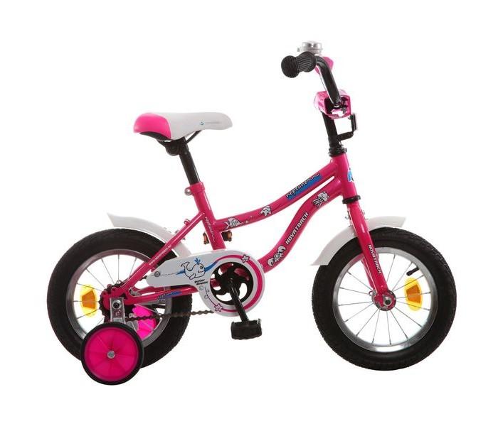 Велосипед двухколесный Novatrack Neptune 12Neptune 12Велосипед двухколесный Novatrack Neptune 12 - отличный вариант для ребенка старше двух лет, чтобы начать осваивать этот вид транспорта с пользой для здоровья. Модель имеет стильный дизайн, безупречную сборку и отличную функциональность.  Особенности: стальная рама седло и руль эргономичной формы, регулируются по высоте крылья укороченные, расположены на обоих колесах тормоз ножной съемные дополнительные колеса на руле расположен громкий звоночек есть светоотражающие катафоты защита цепи от попадания нижней части одежды в механизм Для безопасности велосипед оснащен ограничителем поворота, который не позволяет рулю повернуться на очень большой градус и тем самым предотвращает падение.   Диаметр колес: 12<br>