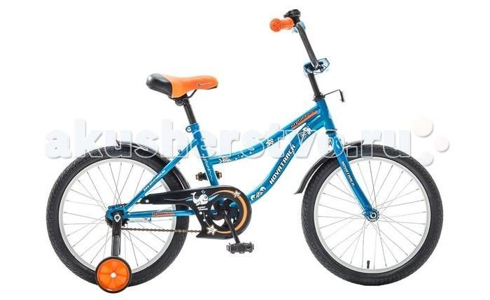 Велосипед двухколесный Novatrack Neptune 18Neptune 18Велосипед двухколесный Novatrack Neptune 18 - стильный и надежный велосипед станет отличным подарком Вашему ребенку. Основные преимущества этой модели: максимальная безопасность,комфорт, привлекательный дизайн и универсальность. Велосипед подойдет и начинающим гонщикам, так как в комплекте есть страховочные колеса.   Особенности: регулируемые седло и руль прочная стальная рама алюминиевые обода защита цепи ножной тормоз 4 отражателя Диаметр колес: 18<br>