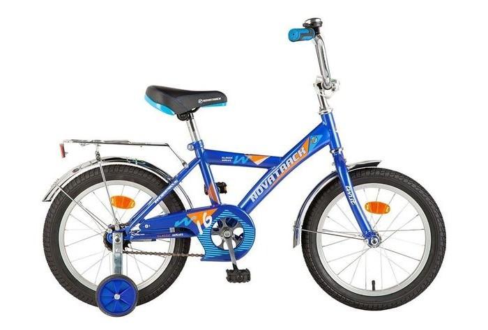 Велосипед двухколесный Novatrack Twist 16Twist 16Велосипед двухколесный Novatrack Twist 16 - это стильный, качественный и надежный велосипед для ребят 5-7 лет. Велосипед собран на базе рамы с универсальной геометрией, которая позволяет легко взобраться или слезть с велосипеда. Для начинающих гонщиков в комплекте предусмотрены страховочные колеса.  Особенности: руль и седло регулируются по высоте защиту от попадания нижнего края одежда в цепь обеспечивает металлический щиток задний ножной тормоз страховочные колесики сзади седла расположен хромированный багажник с зажимом на колесах, руле и седле закреплены катафоты Диаметр колес: 16<br>