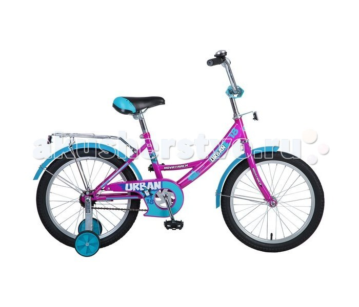 Велосипед двухколесный Novatrack Urban 18Urban 18Велосипед двухколесный Novatrack Urban 18 - удобная модель и для мальчика, и для девочки. Велосипед подойдет начинающим гонщикам, так как в комплекте есть страховочные колеса. Высокое качество сборки гарантирует, что велосипед прослужит долго.  Особенности: регулируемые седло и руль прочная стальная рама цепь оснащена накладкой, препятствующей попаданию одежды в механизм ножной тормоз багажник светоотражатели звонок Диаметр колес: 18<br>
