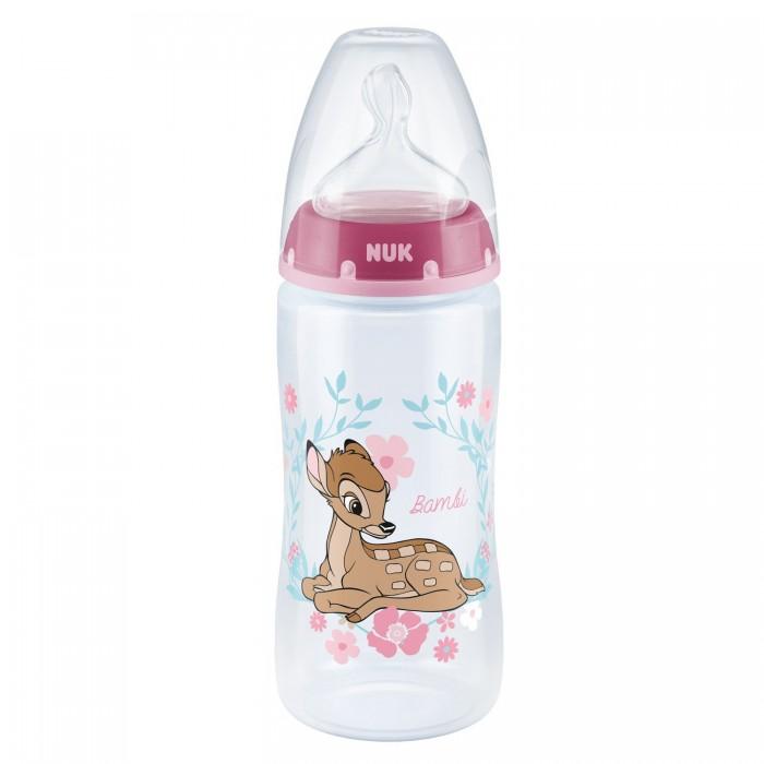Бутылочки Nuk First Choice Plus Дисней Бемби 300 мл силиконовая соска M размер 1