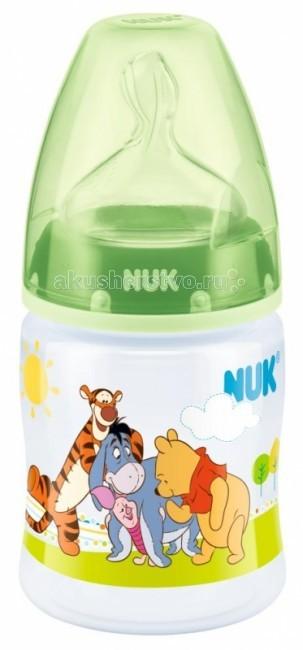 Бутылочки Nuk First Choice Disney пластик силиконовая соска 150 мл nuk first choice plus пластик 300 мл силиконовая соска м