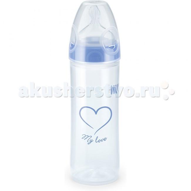 Бутылочки Nuk First Choice New Classic пластик 250 мл силиконовая соска М nuk соска classic силиконовая с воздушным клапаном для молочной смеси m для детей с рождения