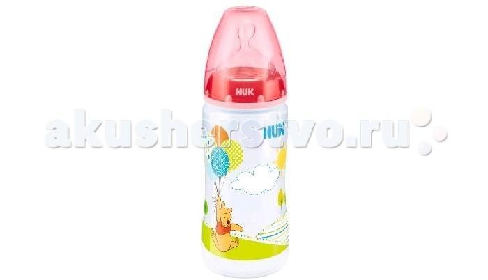 Бутылочки Nuk First Choice Plus Disney с силиконовой соской M с рождения 300 мл (пластик) нук baby blue бутылочка first choice plus пп 150мл с силиконовой соской р 1 м