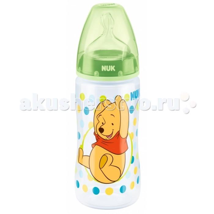 Бутылочки Nuk First Choice Plus Disney с силиконовой соской M с рождения 300 мл (пластик) nuk first choice пластик 150 мл с силиконовой насадкой