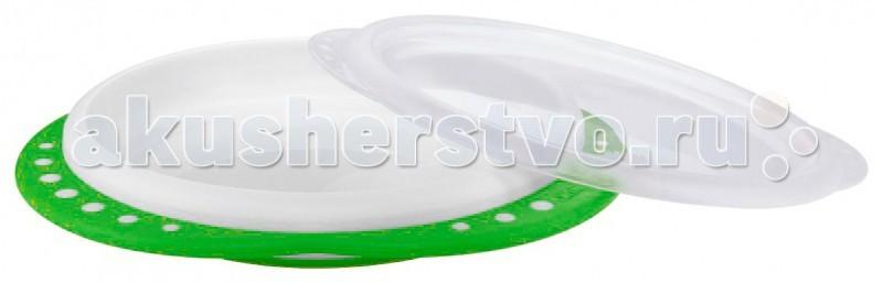 Посуда Nuk Обучающая тарелка Easy Learning с крышкой, мелкая миска детская nuk easy learning с крышкой от 6 месяцев цвет оранжевый