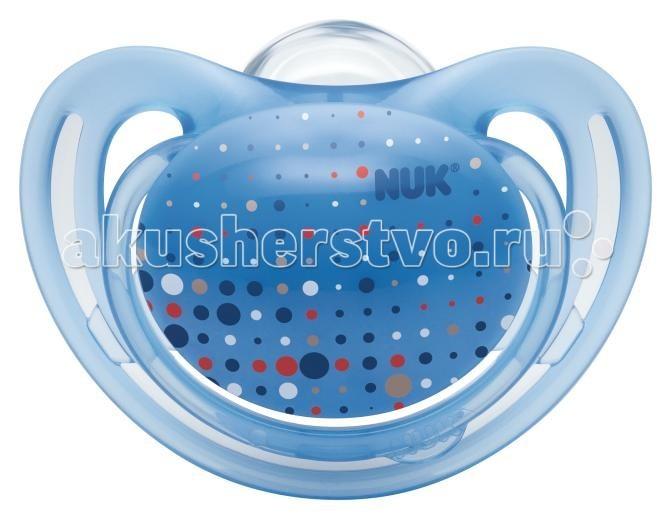 Пустышки Nuk ортодонтическая силиконовая для сна FreeStyle размер 3 (с 18 мес.) nuk пустышка силиконовая ортодонтическая для ежик от 18 до 36 месяцев