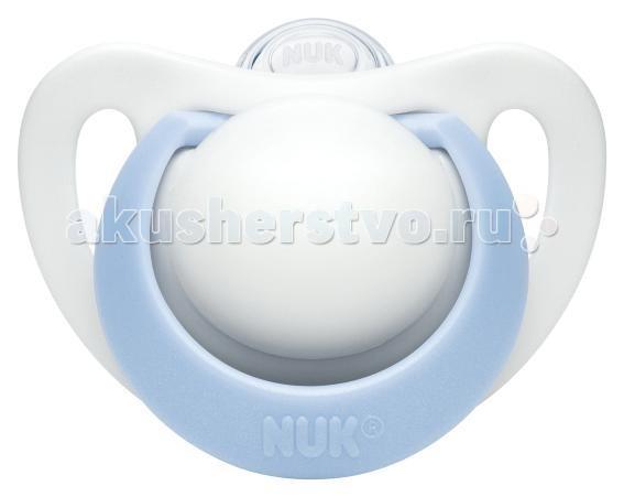 Пустышки Nuk ортодонтическая силиконовая Genius размер 3 (18-36 мес) пустышка силиконовая nuk genius ортодонтическая от 18 до 36 месяцев цвет белый голубой