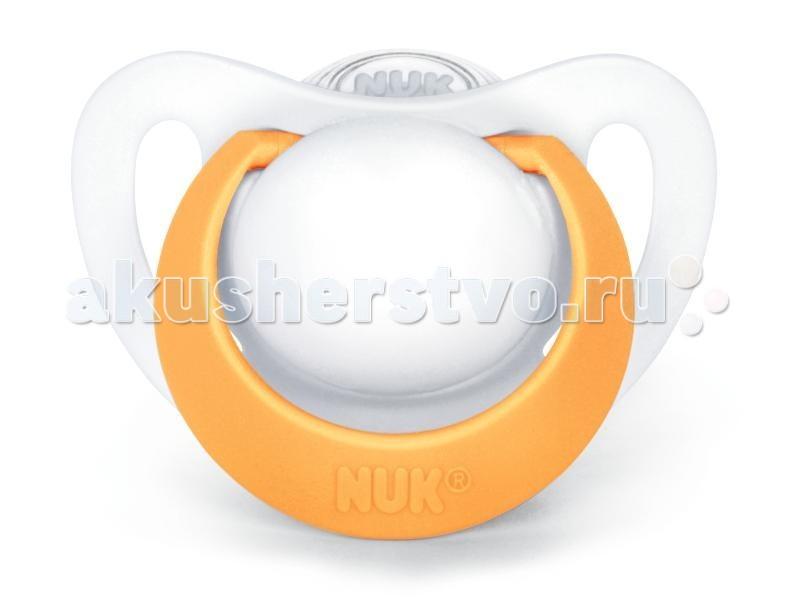 Пустышки Nuk ортодонтическая силиконовая Genius размер 3 (18-36 мес) nuk пустышка силиконовая ортодонтическая для ежик от 18 до 36 месяцев