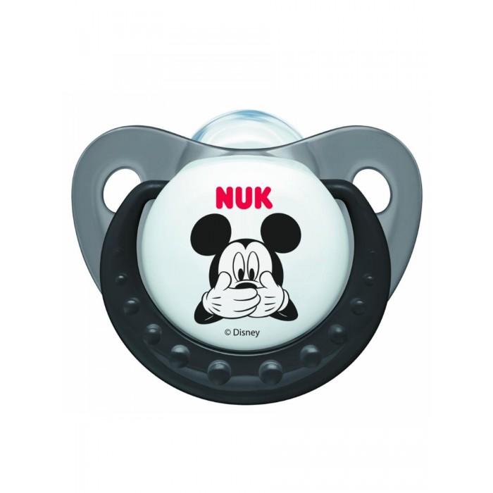 Пустышки Nuk ортодонтическая силиконовая Trendline Disney Mickey, размер 1 (0-6 мес.) нук пустышка trendline disney силиконовая р 2
