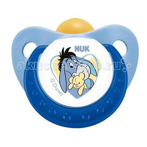 Пустышки Nuk ортодонтическая латексная Trendline Disney, размер 3 (с 18 мес.) пустышки nuk ортодонтическая силиконовая для сна freestyle размер 3 с 18 мес