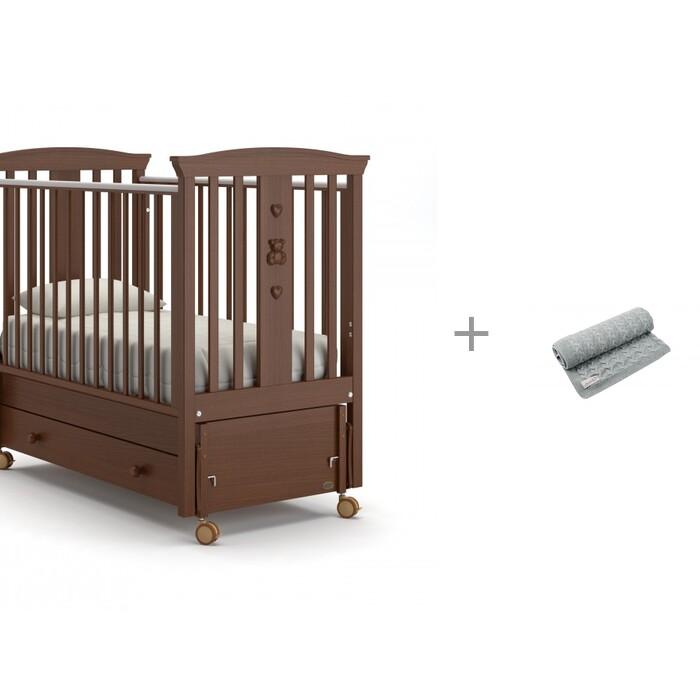 Купить Детские кроватки, Детская кроватка Nuovita Fasto swing маятник продольный и Плед AmaroBaby Pure Love Косичка