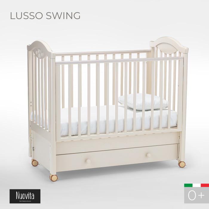 Детская кроватка Nuovita Lusso swing маятник продольный