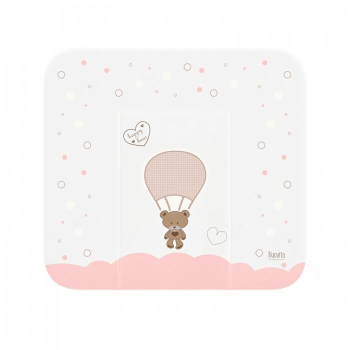 Купить Накладки для пеленания, Nuovita Матрасик для пеленания Cute Bear мягкий 82х72 см