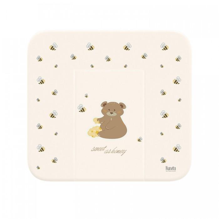 Купить Накладки для пеленания, Nuovita Матрасик для пеленания Honey Bear мягкий 82х72 см