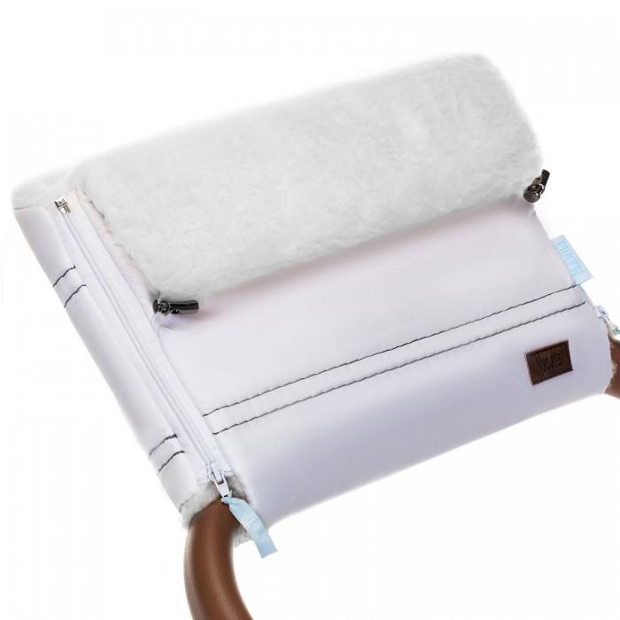 Купить Муфты для рук, Nuovita Муфта меховая для коляски Alpino Bianco
