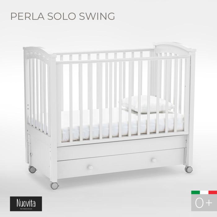 цена на Детские кроватки Nuovita Perla solo swing продольный маятник