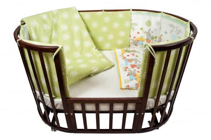 Комплект в кроватку Nuovita  Sul prato (6 предметов)Sul prato (6 предметов)Комплект в кроватку Nuovita Sul prato (6 предметов) для детей с рождения.  Все материалы натуральные, экологически чистые и не вызывают аллергии, что так важно при выборе постельного белья для самых маленьких. В сочетании с безукоризненным качеством пошива и прекрасным дизайном эти преимущества делают комплект замечательным вариантом для оформления спального места в детской комнате.  В комплекте: бампер наволочка одеяло пододеяльник подушка простынь на резинке<br>
