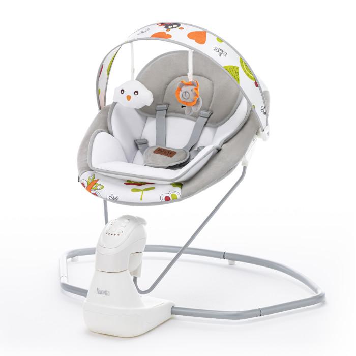 Электронные качели Nuovita  AttentoAttentoЭлектронные качели Nuovita Attento  Комфортное кресло эргономической формы создано с учетом анатомических особенностей новорожденного, в частности, его неокрепшей спинки. Малыш погрузится в него, как в люльку, и будет чувствовать себя не хуже, чем в маминых объятиях.   Особенности: возрастная группа: от 0 месяцев до 6 месяцев (до 9 кг.) 5 скоростей укачивания таймер на 10,20 и 30 минут 8 мелодий на выбор регулятор громкости пятиточечные ремни безопасности мягкий вкладыш яркие игрушки для подвешивания работает от батареек и от сети вес 4.5 кг габаритные размеры в разложенном виде, мм: 710 x 760 x 790<br>