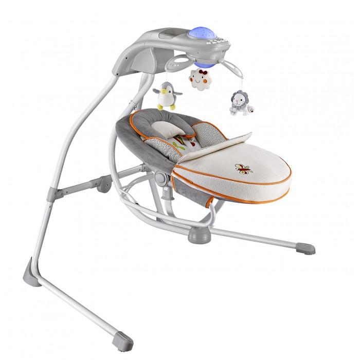 Электронные качели Nuovita  CassetaCassetaЭлектронные качели Nuovita Casseta - уютное и невероятно удобное убежище для вашего малыша. Благодаря мягким вкладкам из нежного, приятного на ощупь материала и предусмотрительно включенной в комплект накидки на ножки, младенец будет чувствовать себя в креслице электрокачелей комфортно и безопасно.  Электрокачели - прекрасный способ убаюкать новорожденного, развлечь его в периоды бодрствования и успокоить во время плача или капризов, и модель «Casseta» прекрасно справляется с этими функциями. Она обязательно полюбится и самому малышу, и маме, которая по достоинству оценит те минуты свободы, которые ей предоставит это удивительное и практичное устройство.  Особенности: Поворотная конструкция сидения, деликатное укачивание в нескольких режимах и очаровательный вращающийся мобиль - незаменимая развивающая игрушка для новорожденного - дополняют перечень преимуществ этой модели. Завершают образ изящные линии основания и нежные, пастельные расцветки 3 уровня положения сиденья 4 скорости укачивания Таймер на 10, 20 и 30 минут 8 мелодий на выбор Регулятор громкости Функция виброукачивания Пятиточечные ремни безопасности Мягкий вкладыш Детектор движения Можно использовать отдельно в виде шезлонга Ночник c игрушками Большой выбор ярких игрушек для мобиля Работает от батареек и от сети<br>