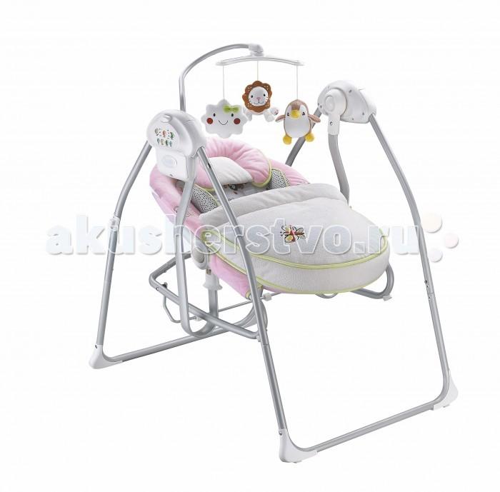 Электронные качели Nuovita  MiglioreMiglioreЭлектронные качели Nuovita Migliore - уютное и невероятно удобное убежище для вашего малыша. Благодаря мягким вкладкам из нежного, приятного на ощупь материала и предусмотрительно включенной в комплект накидки на ножки, младенец будет чувствовать себя в креслице электрокачелей комфортно и безопасно.  Эргономичное и изящное основание. Мягкое, невероятно уютное креслице с удобными вкладками из приятного на ощупь материла. Пятиточечные ремни безопасности и накидка на ножки. Все это сделает пребывание младенца в электрокачелях приятным, беззаботным и безопасным: он с удовольствием будет дремать под аккомпанемент убаюкивающих мелодий или, напротив, увлеченно познавать окружающий мир, протягивая ручки к висящим над ним игрушкам.  Родители же по достоинству оценят надежный механизм укачивания, продуманность и прочность конструкции и, конечно же, приятный дизайн в пастельных тонах с декоративными элементами в виде вышивки. Эти электрокачели станут незаменимым помощником в семье с младенцем: они гарантированно подарят комфорт малышу и избавят от множества забот его родителей.  Особенности: 3 уровня положения сиденья; 3 скорости укачивания; таймер на 10, 20 и 30 минут; несколько мелодий на выбор; регулятор громкости; пятиточечные ремни безопасности; мягкий вкладыш; можно использовать отдельно в виде шезлонга; съёмный мобиль с игрушками; большой выбор ярких игрушек для мобиля; работает от батареек и от сети.<br>