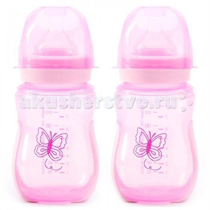 Бутылочки Nurtria для кормления 2 шт. 240 мл бутылочки nurtria для кормления 2 шт 240 мл