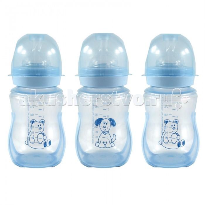Бутылочки Nurtria для кормления Антиколик 3 шт. 240 мл бутылочки nurtria для кормления 2 шт 240 мл