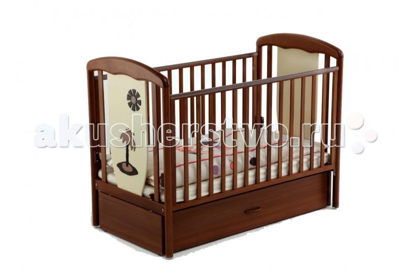 Купить со скидкой Детская кроватка Papaloni Vitalia маятник 125х65
