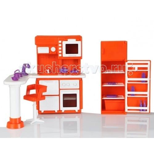 Кукольные домики и мебель Огонек Набор кукольный Кухня Конфетти кукольные домики и мебель огонек ванная комната конфетти