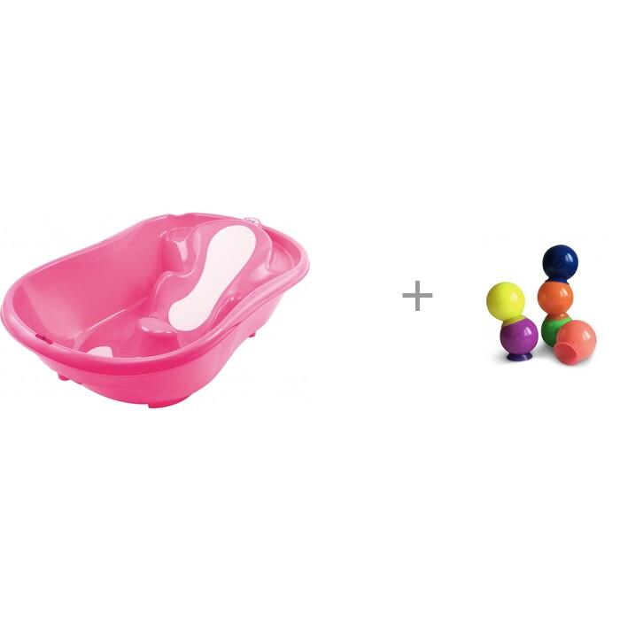 Купить Детские ванночки, Ok Baby Ванночка Onda Evolution и Набор ПВХ-игрушек для ванной Happy Baby IQ-Bubbles