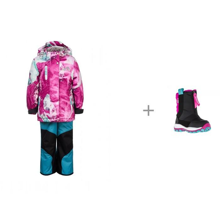 Купить Утеплённые комплекты, Oldos Active Костюм для девочки Гера и Kakadu Сапоги для девочки