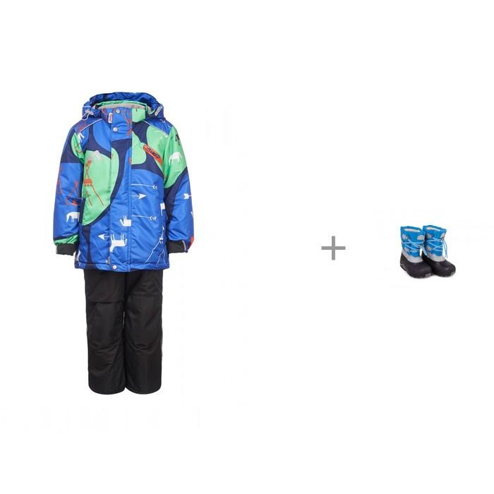 Купить Утеплённые комплекты, Oldos Active Костюм для мальчика Джун и Easy Go Галоши для мальчика утепленные ГДУ010-010