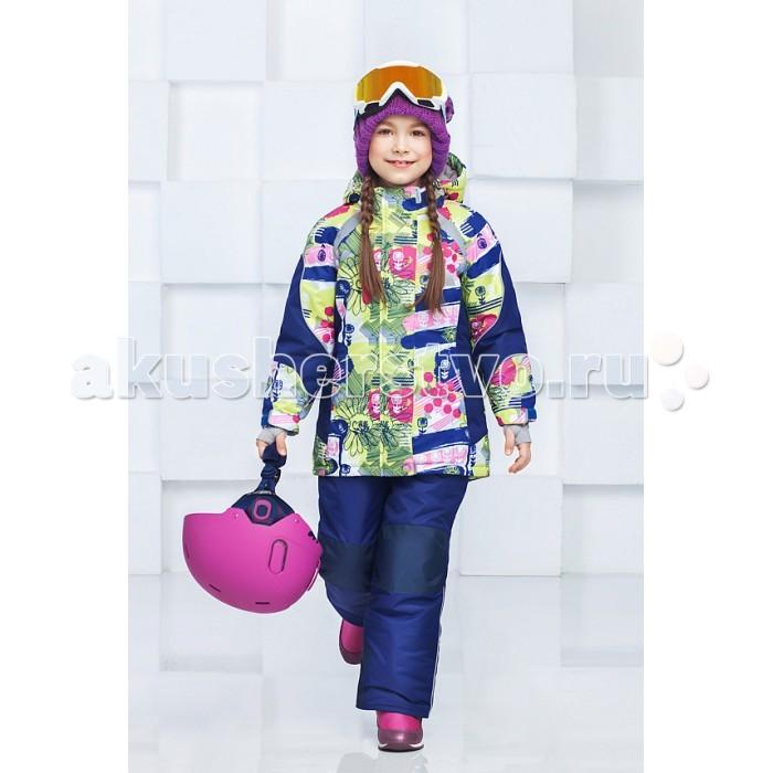 Oldos Комплект для девочки АннабельКомплект для девочки АннабельКомплект для девочки OLDOS Аннабель отлично подойдет как для зимних прогулок в городе, так и для активного отдыха на природе. В нем девочке будет тепло и удобно заниматься любительским спортом в холодную и ветреную погоду.  До 116 размера в комплекте идет куртка и полукомбинезон, а со 122 размера - брюки со спинкой.  Костюм сочетает в себе самые передовые технологии, сложный крой и яркий дизайн. Благодаря мембранной ткани он обладает надежной защитой от ветра и мокрого снега и хорошо «дышит». Для дополнительной защиты от мокрого снега на ткань нанесено специальное тефлоновое покрытие.  Утеплитель HOLLOFAN PRO 200/150 г/м2 не позволит  замерзнуть даже при очень низкой температуре. Для защиты от снега и ветра в куртке костюма есть внутренние манжеты с отверстием для большого пальца, регулируемый капюшон и снего-ветрозащитная юбка, на брюках - противоснежные муфты и усиление в местах износа.<br>